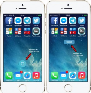 vHome: Add Home and Lock Virtual Button to iPhone Screen (2 in 1)