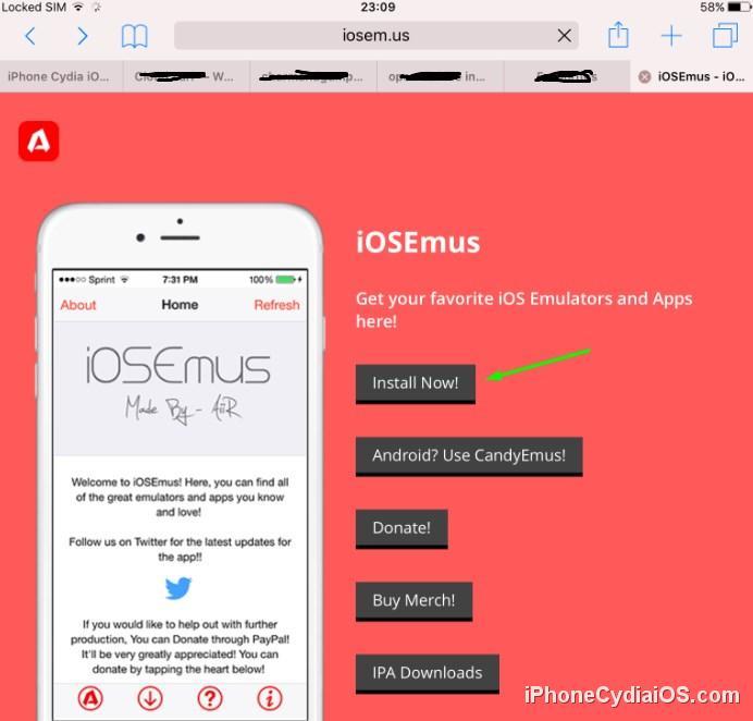 Install iOSEmus - Open iOSEmus URL