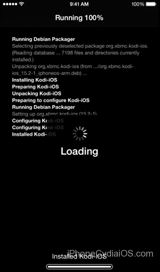 Cydia installs Kodi on iOS 9 - 2