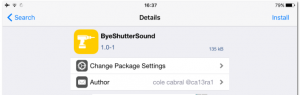 ByeShutterSound: Remove Camera Sound iOS