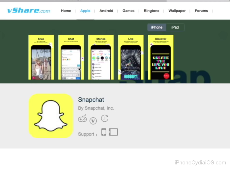 Save Snaps Secretly and Spoof Location on Snapchat for iOS download spanchat from vshare