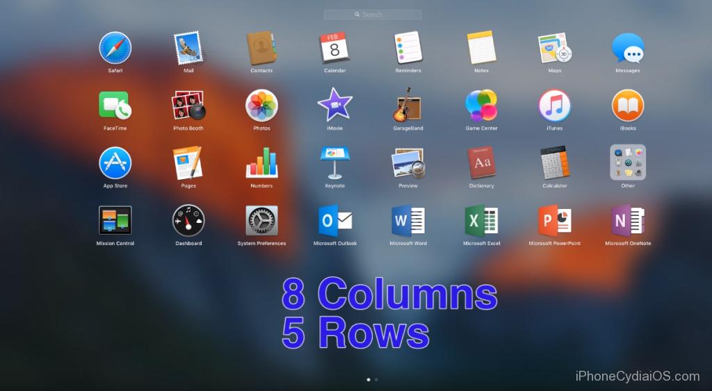 change Launchpad Icon size in Mac OS X El Capitan_5
