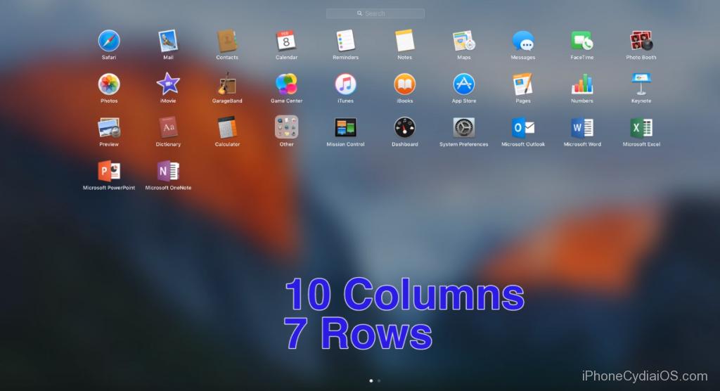 change Launchpad Icon size in Mac OS X El Capitan_6