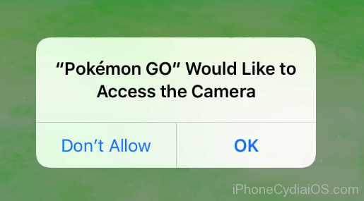 install pokemon go ios 9 - allow camera