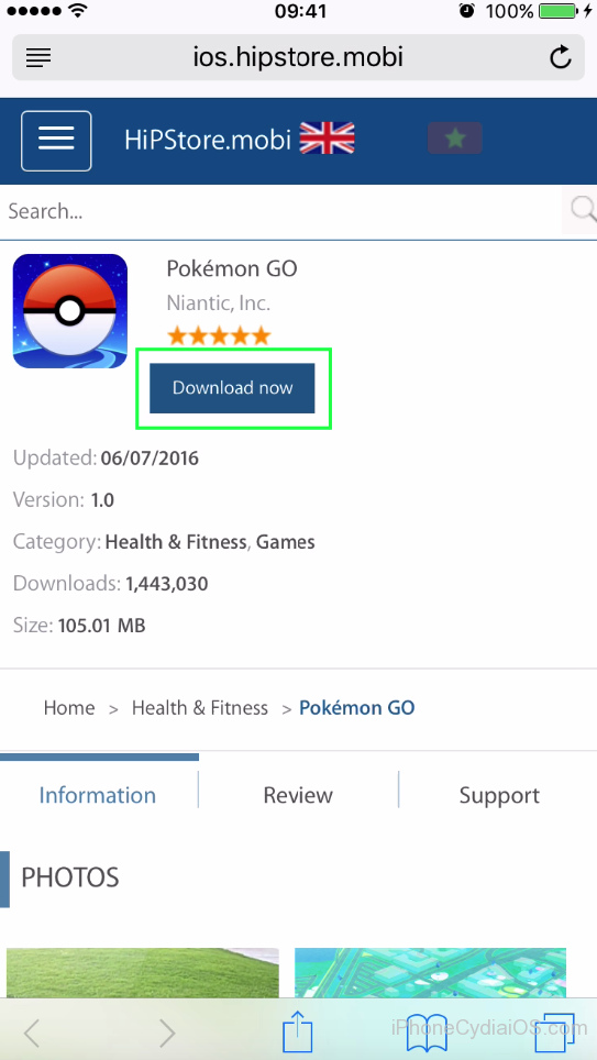 pokemon go hipstore download