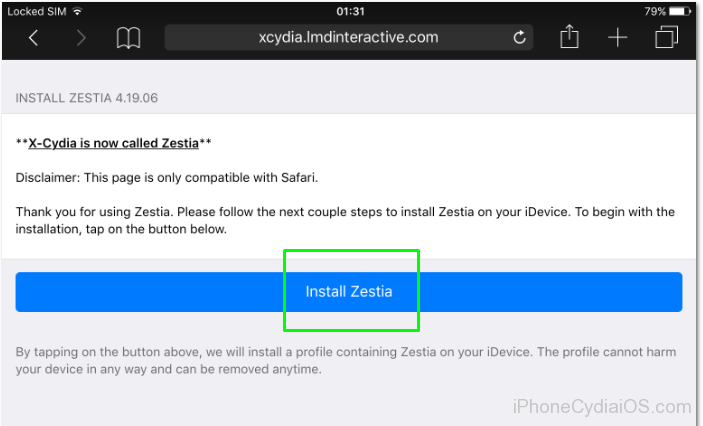 Download and Install Zestia on iOS - 1