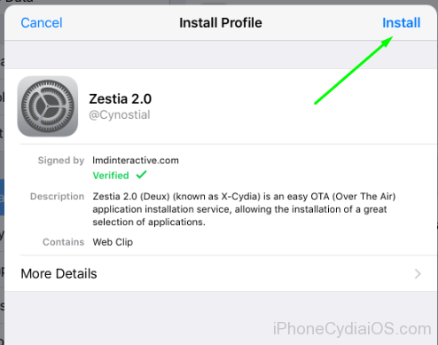 Download and Install Zestia on iOS - 2