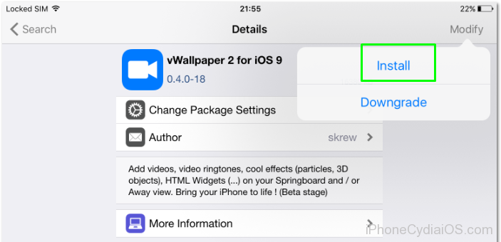 Install Animated Wallpapers in iOS 9.3.3-4